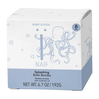 Naïf Care Splashing Bath Bombs 8 x 24 g