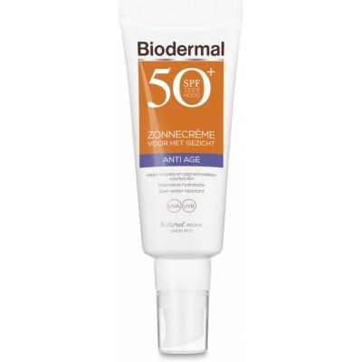 Biodermal Zonnecrème Gezicht Anti Age SPF50+ 40 ml