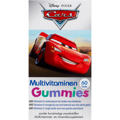 Disney Kids Multivitamin Gummies Cars 60 kpl
