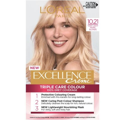 L'Oreal Excellence Creme Hair Color 10.21 Very Very Light Pearl Blonde 1 pcs