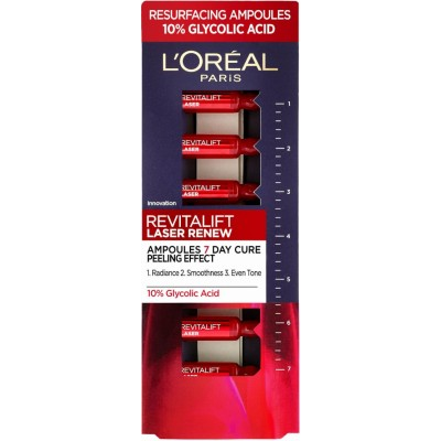 L'Oreal Revitalift Laser X3 10% Glycolic Acid Ampoules 7 x 1 ml
