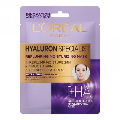 L'Oreal Hyaluron Specialist Replumping Moisturizing Mask 1 st