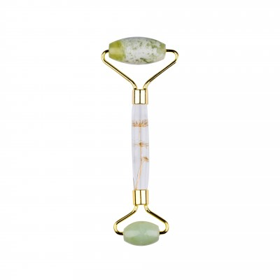 Basics Light Green Jade Facial Roller Flower Handle 1 stk