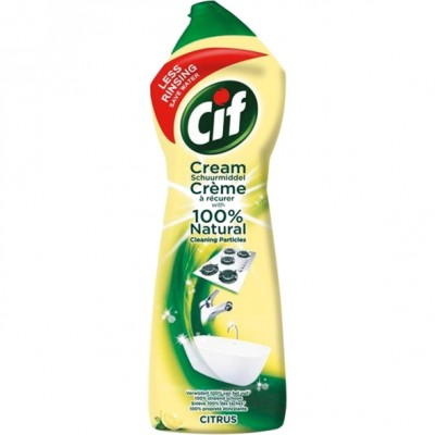 Cif Citrus Scouring Cream With Micro Crystals 750 ml