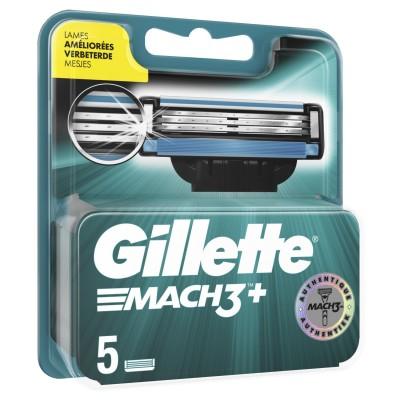 Gillette Mach3+ Razorblades 5 pcs
