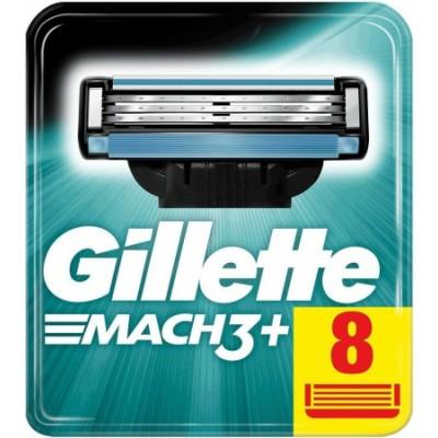Gillette Mach3+ Razorblades 8 stk