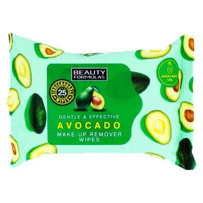 Beauty Formulas Avocado Make-Up Remover Wipes 25 st