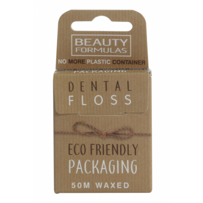 Beauty Formulas Eco Friendly Packaging Waxed Floss 50 m