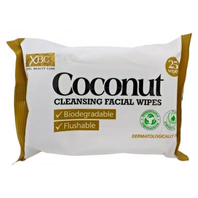Revitalising Coconut Water Biodegradable Facial Wipes Twin Pack 2 x 25 kpl