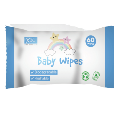 XBC Biodegradable Baby Wipes 60 stk