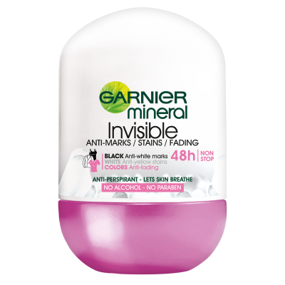 Garnier Mineral Invisible 48h Floral Anti-Perspirant Roll-On Deo 50 ml