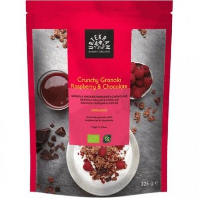 Urtekram Crunchy Granola Vadelma & Suklaa 325 g