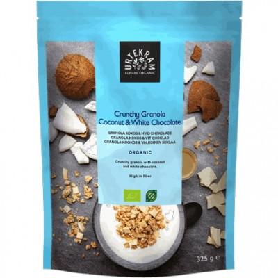 Urtekram Crunchy Granola Kokos & Hvid Chokolade 325 g