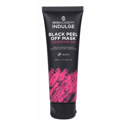 Skin Academy Indulge Black Peel Off Mask Co-Enzyme Q10 80 ml