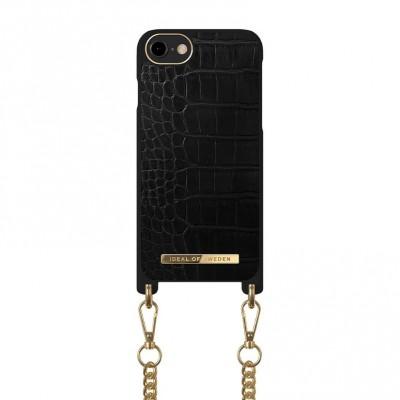 iDeal Of Sweden Phone Necklace Case iPhone 6/6S/7/8/SE Jet Black Croco 6/6S/7/8/SE