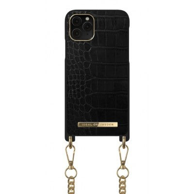 iDeal Of Sweden Phone Necklace Case iPhone 11 Pro Jet Black Croco iPhone 11 Pro
