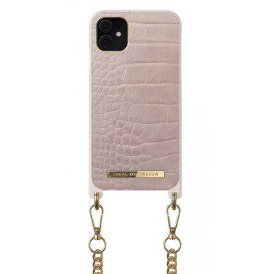 iDeal Of Sweden Ideal Phone Necklace Case iPhone 11 Misty Rose Croco iPhone 11