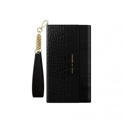 iDeal Of Sweden Signature Clutch iPhone 11 Jet Black Croco iPhone 11