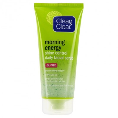 Clean & Clear Morning Energy Shine Control Daily Facial Scrub 150 ml