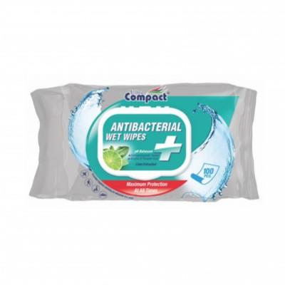 Ultra Compact Antibacterial Wipes 100 kpl