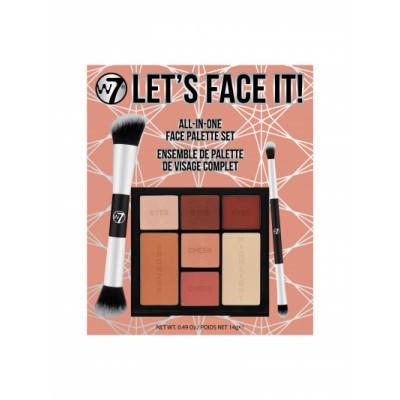W7 Let's Face It Face Palette Set 14 g