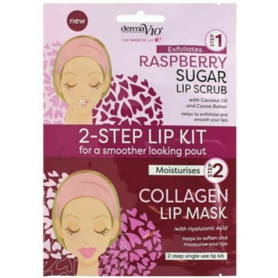 DermaV10 2-Step Lip Kit Scrub & Mask Raspberry 1 stk
