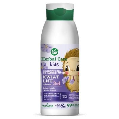 Herbal Care Kids 3 In 1 Delicate Bath & Shower Gel 400 ml