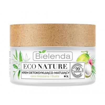 Bielenda Eco Nature Face Cream Coconut Water & Green Tea & Lemon Grass 50 ml