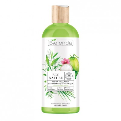 Bielenda Eco Nature Micellar Water Coconut Water & Green Tea & Lemon Grass 500 ml