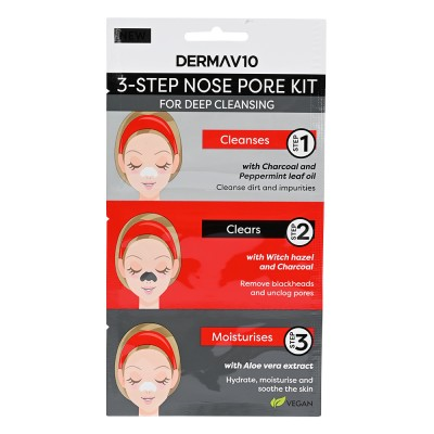 DermaV10 3 Step Nose Pore Kit 1 pcs