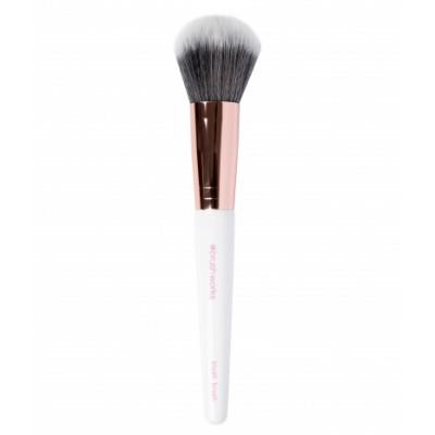 Brush Works White & Gold Blush Brush 1 kpl