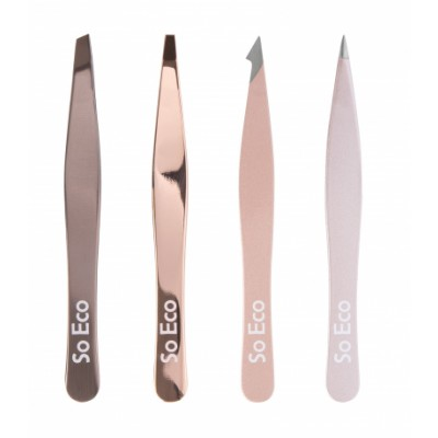 So Eco Rose Gold Tweezer Set 4 kpl