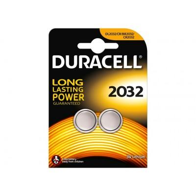 Duracell CR2032 Litium Knapcellebatterier 2 st