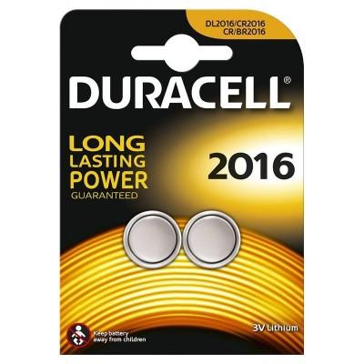 Duracell CR/BR2016 Litium Knapcellebatterier 2 stk
