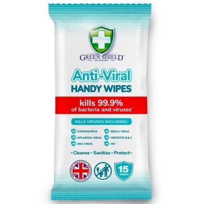 Green Shield Anti-Viral Wipes 15 kpl