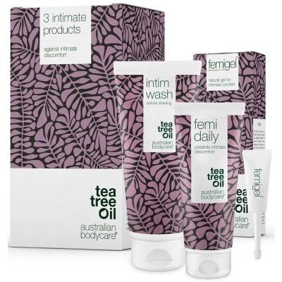 Australian Bodycare Intimate Wash & Femi Daily & Femigel Set 200 ml + 100 ml + 5 x 5 ml