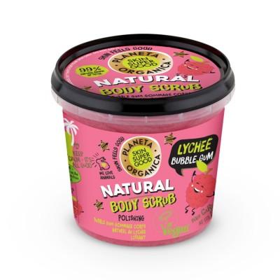 Planeta Organica Natural Lychee Bubble Gum Body Scrub 360 ml