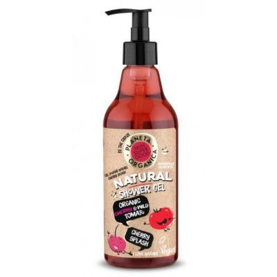 Planeta Organica Natural Organic Cherry & Wild Tomato Shower Gel 500 ml