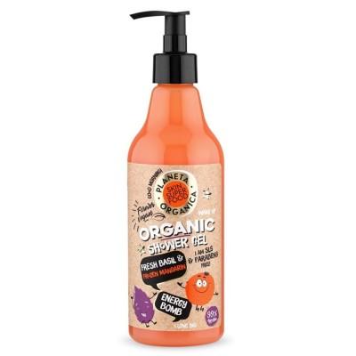 Planeta Organica Natural Organic Fresh Basil & Fresh Mandarin Shower Gel 500 ml