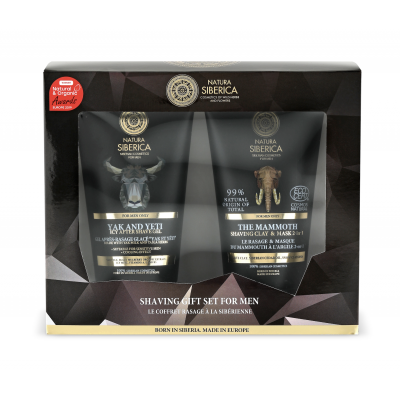 Natura Siberica Shaving Set After Shave Gel & Shaving Clay & Mask 2in1 2 x 150 ml