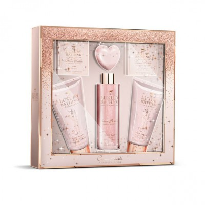 Grace Cole Luxury Bathing Collection Treat Yourself Gift Set 2 x 150 ml + 250 ml + 100 g + 80 g + 25 g
