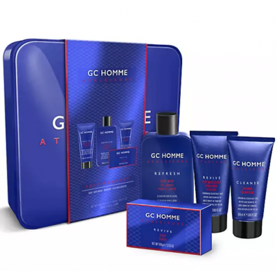 Grace Cole GC Homme Athleisure Post-Workout Grooming Gift Set 100 g + 1 x 200 ml + 2 x 50 ml