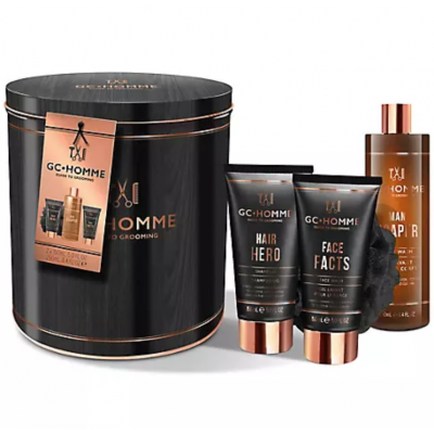 Grace Cole GC Homme Guide To Gromming Iconic Gift Set 2 x 150 ml + 250 ml + 1 stk
