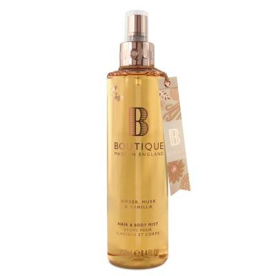 Boutique Amber Musk & Vanilla Hair & Body Mist 250 ml