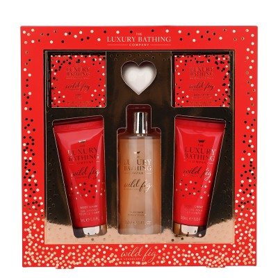 The Luxury Bathing Company Glistening Gift Set 2 x 100 ml + 250 ml + 100 g + 80 g + 1 kpl