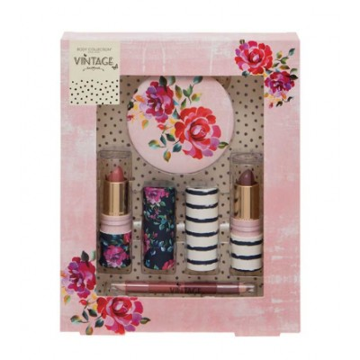 Body Collection Vintage Lips Gift Set 4 kpl