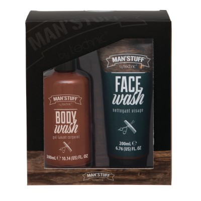 Man'Stuff Double Act Body & Face Wash Gift Set 300 ml + 200 ml