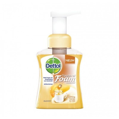 Dettol Touch Of Foam Soothing Honey & Milk Hand Soap 250 ml