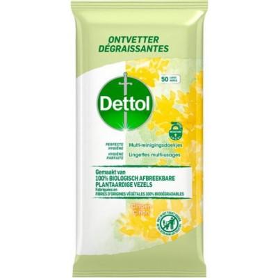 Dettol Perfect Hygiejne Biodegradable Wipes Citrus 50 kpl