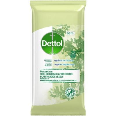 Dettol Perfect Hygiejne Biodegradable Wipes 50 pcs